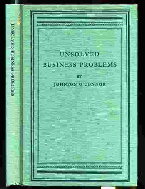 Image for UNSOLVED BUSINESS PROBLEMS