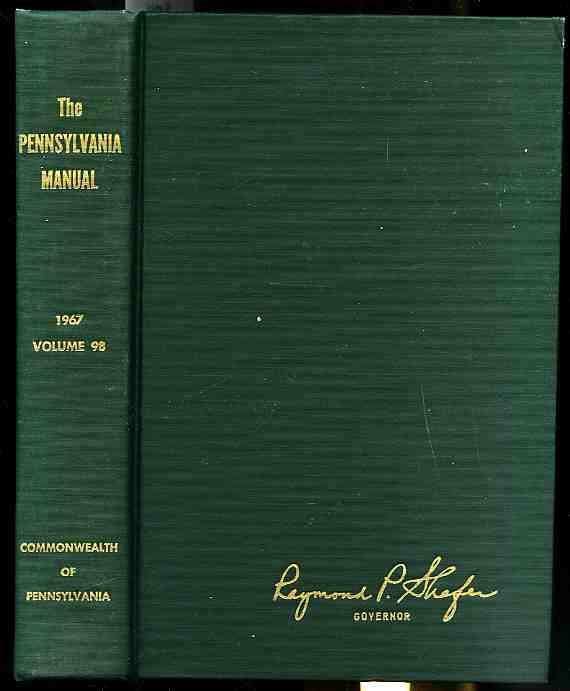Image for THE PENNSYLVANIA MANUAL Volume 98 1967