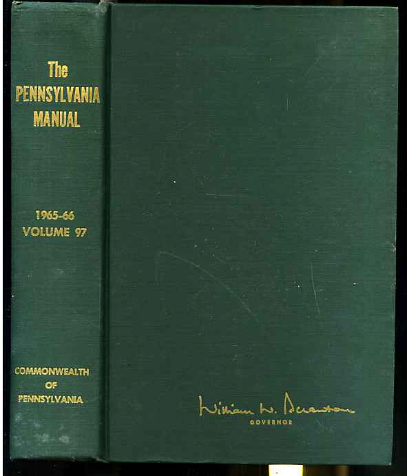 Image for THE PENNSYLVANIA MANUAL Volume 97 1965-66