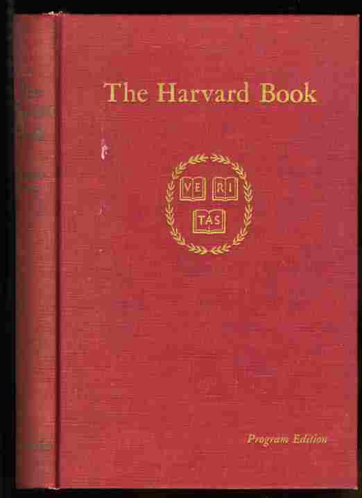 Image for THE HARVARD BOOK Selections from Three Centuries