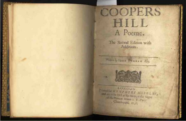Image for COOPERS HILL: A POEME