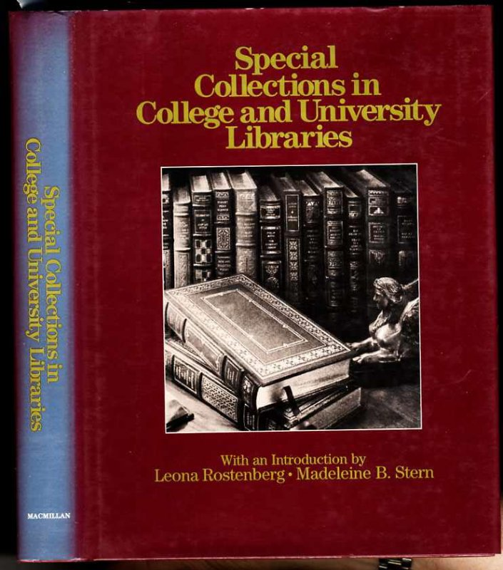 Image for SPECIAL COLLECTIONS IN COLLEGE AND UNIVERSITY LIBRARIES.