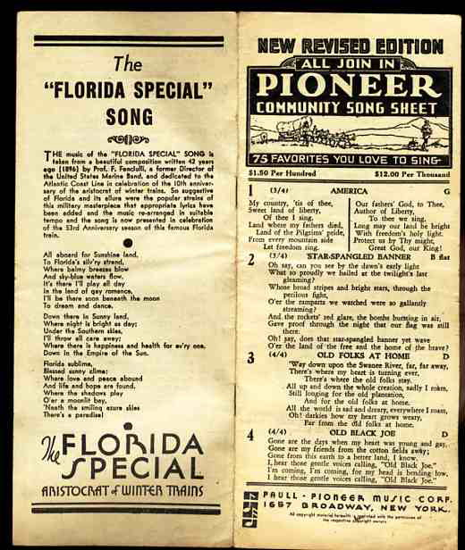 Image for PIONEER COMMMUNITY SONG SHEET 75 Favorites You Love to Sing