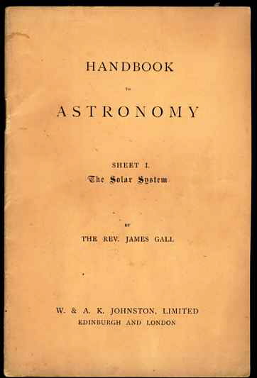 Image for HAND-BOOK TO ASTRONOMY sheet I the solar system
