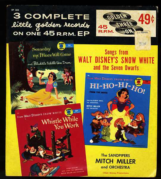 Image for SONGS FROM WALT DISNEY'S SNOW WHITE WHISTLE WHILE YOU WORK / SNOW WHITE IN THE COTTAGE Golen Record
