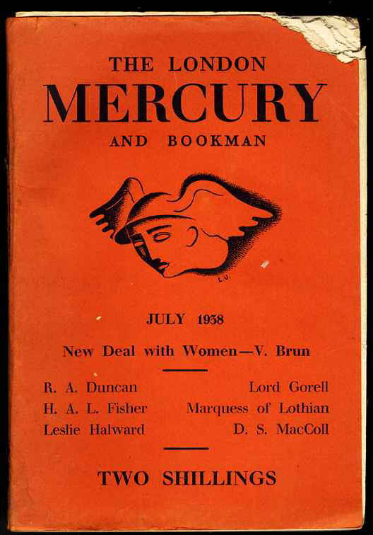 Image for LONDON MERCURY AND BOOKMAN July 1938