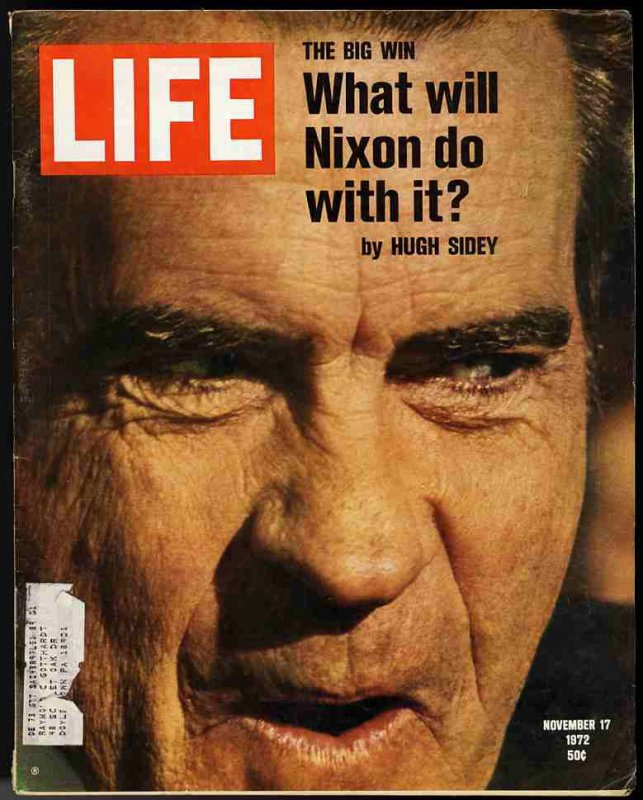 Image for LIFE MAGAZINE November 17, 1972 Nixon Wins, What Will He Do with It?