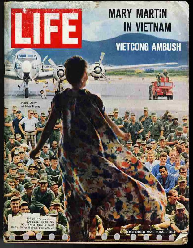Image for LIFE MAGAZINE October 22,1965  Mary martin in Vietnam, vietcong ambush