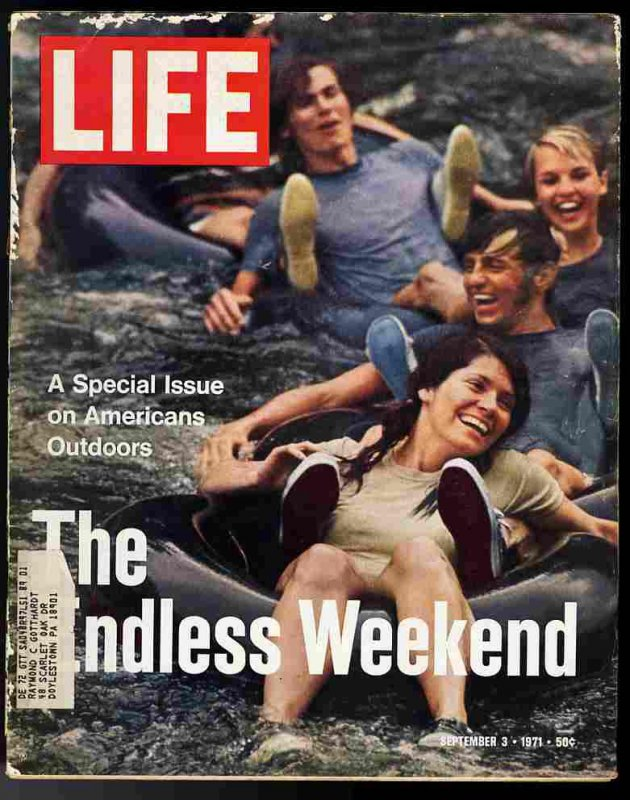 Image for LIFE MAGAZINE September 3 1971 the Endless Weekend America's Outdoors