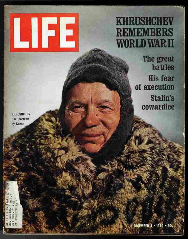 Image for LIFE MAGAZINE December 4, 1970  Kruscheve remembers WW II