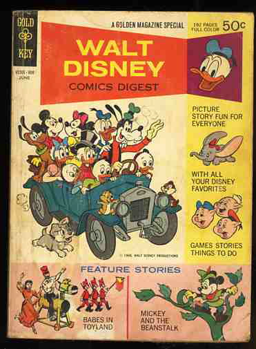 Image for WALT DISNEY COMICS DIGEST #1 June 1968