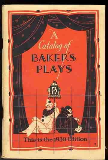 Image for A CATALOG OF BAKER'S PLAYS This is the 1930 Edition