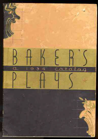 Image for BAKER'S PLAYS A 1934 Catalog