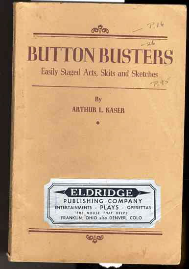 Image for BUTTON BUSTERS Easily Staged Acts, Skits and Sketches