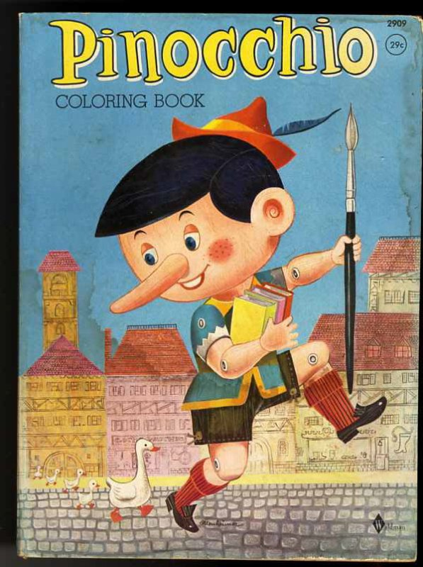 Image for PINNOCHIO COLORING BOOK 1961 Unused