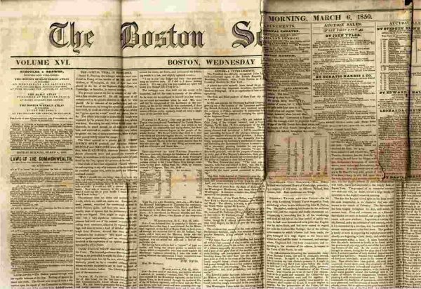 Image for THE BOSTON SEMI-WEEKLY ATLAS (NEWSPAPER) MARCH 4 1850
