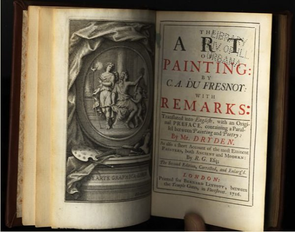 Image for THE ART OF PAINTING: BY C. A. DU FRESNOY: WITH REMARKS: TRANSLATED INTO ENGLISH, WITH AN ORIGINAL PREFACE, CONTAINING A PARALLEL BETWEEN PAINTING AND POETRY: BY MR. DRYDEN. AS ALSO A SHORT ACCOUNT OF THE MOST EMINENT PAINTERS, BOTH ANCIENT AND MODERN: BY The Second Edition, Corrected, and Enlarg'd.