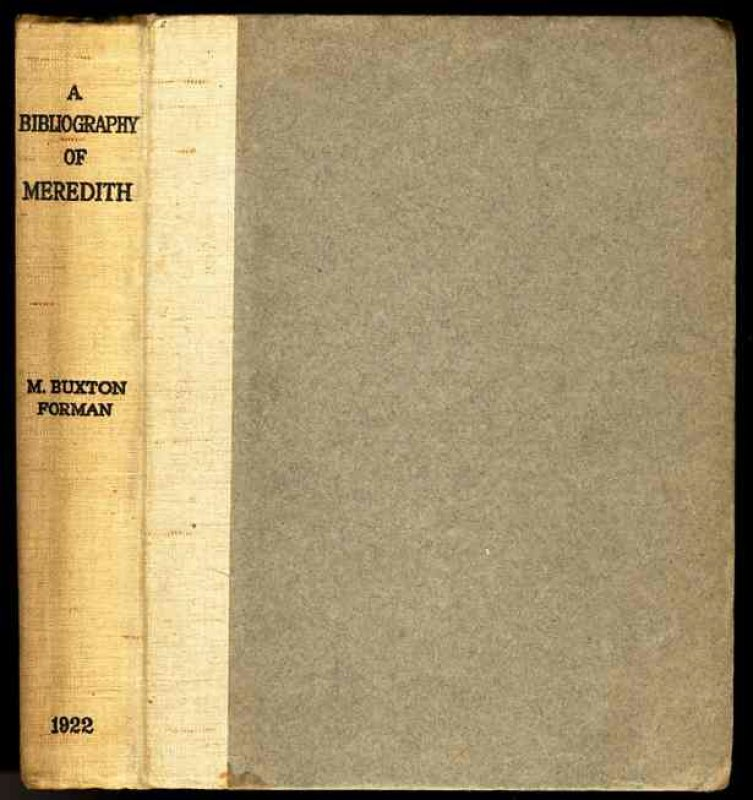 Image for A BIBLIOGRAPHY OF THE WRITINGS IN PROSE AND VERSE OF GEORGE MEREDITH.