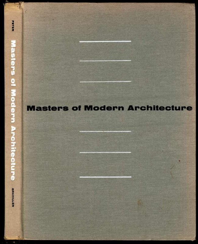 Image for MASTERS OF MODERN ARCHITECTURE.