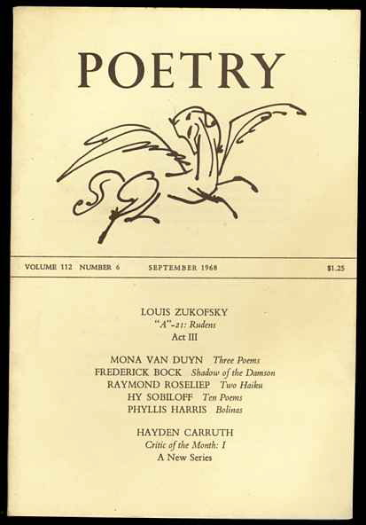 Image for POETRY: [VOL. 112, NO. 6] September 1968