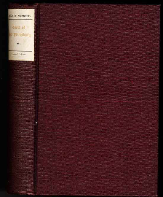 Image for MEMOIRS OF CATHERINE II AND THE COURT OF ST. PETERSBURG ltd ed 892/1000