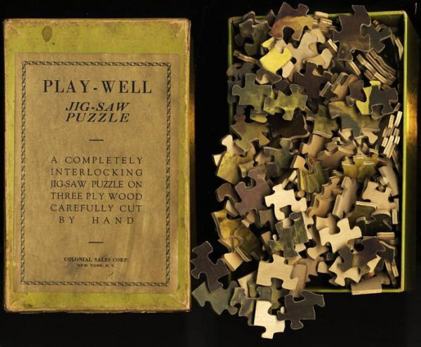 Image for PLAY-WELL JIG-SAW PUZZLE (AWAITING THE CATCH 200PCS.)  A Completely Interlocking Jig-Saw Puzzle on Three Ply Wood Carefully Cut by Hand