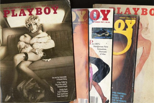 Image for LOT OF FIVE VARIOUS PLAYBOYS Feb 1962, Aug 1982, Sept 1987, June 1990, May 1973