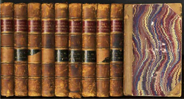 Image for A NEW GENERAL BIOGRAPHICAL DICTIONARY.  (9 Volumes of 12 Published)