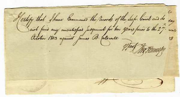 Image for THREE LEGAL NOTES SIGNED 1803 PHILADELPHIA PA