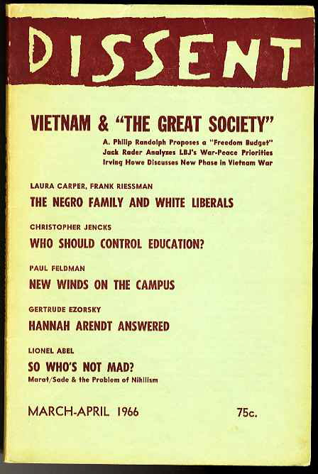 Image for DISSENT VOL. XIII, NO. 2 (MARCH-APRIL 1966)