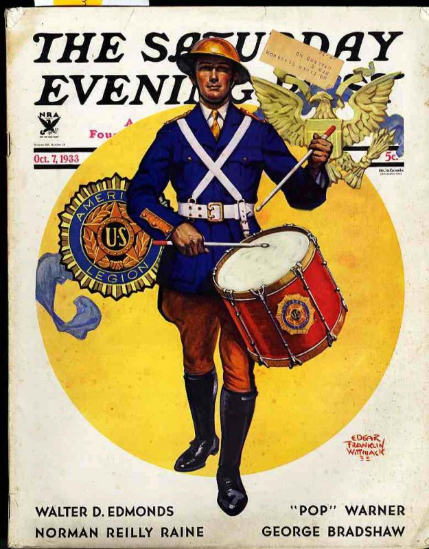 Image for THE SATURDAY EVENING POST. ISSUE OF OCT 7 1933