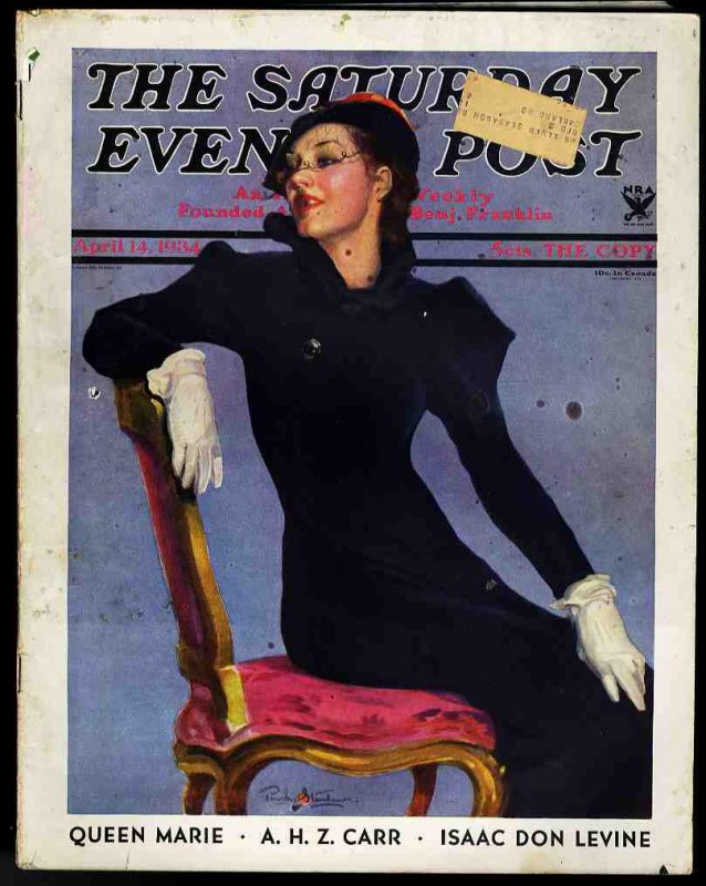 Image for THE SATURDAY EVENING POST. ISSUE OF APRIL 14 1934