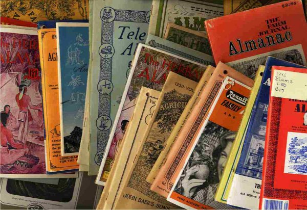 Image for LOT OF 33 OFTEN UNUSUAL ALMANACS