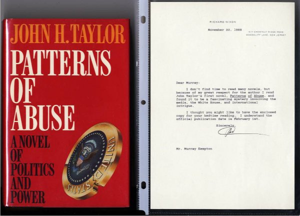 Image for TLS RICHARD NIXON ALONG WITH JOHN TAYLOR'S FIRST NOVEL, PATTERNS OF ABUSE