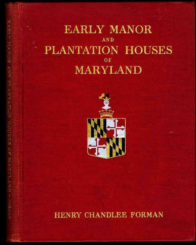Image for EARLY MANOR AND PLANTATION HOUSES OF MARYLAND.