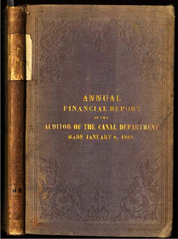 Image for [NEW YORK STATE] ANNUAL FINANCIAL REPORT OF THE AUDITOR OF THE CANAL DEPARTMENT MADE JANUARY 8, 1862