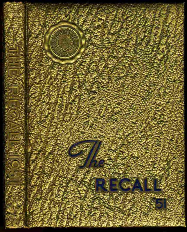 Image for THE RECALL YEARBOOK 1951 AUGUSTA MILITARY SCHOOL, VIRGINIA