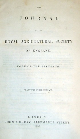 Image for THE JOURNAL OF THE ROYAL AGRICULTURAL SOCIETY OF ENGLAND.  (G)