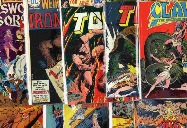 Image for 10 NEAR MINT 1970'S SWORD AND SORCERY COMICS.