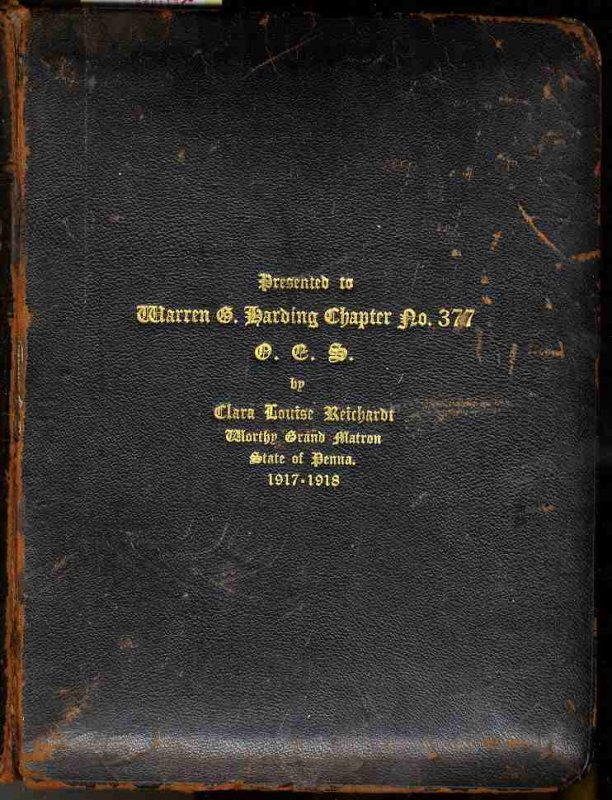 Image for BIBLE OF WARREN G HARDING CHAPTER NO. 377, PHILADELPHIA. ORDER OF THE EASTERN STAR [LBC]