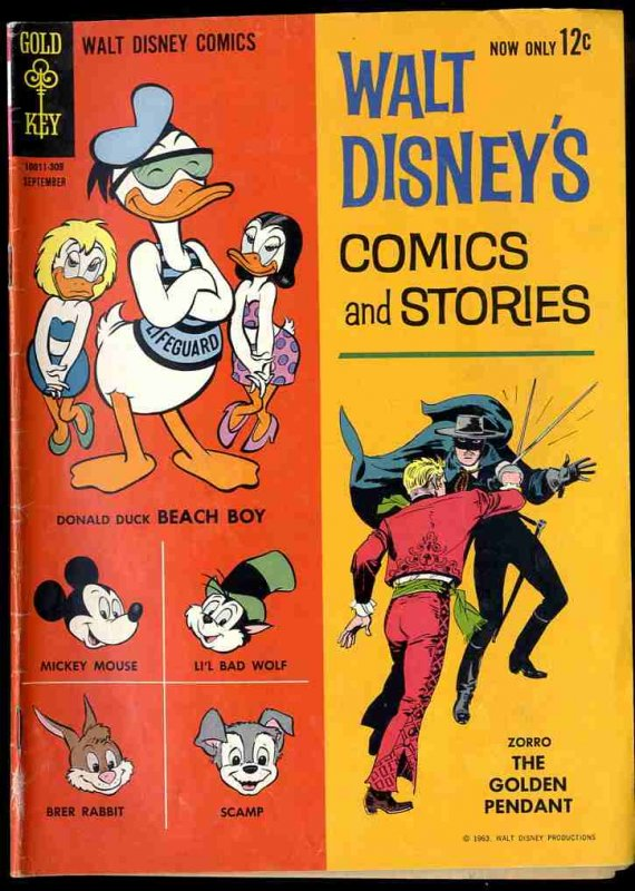 Image for WALT DISNEY'S COMICS AND STORIES VOL 23 NO 12 SEPT 1963 12C [COMIC BOOK]