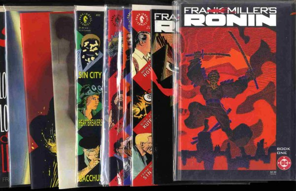 Image for 10 DARK HORSE COMICS- SIN CITY, DHP AND 3 COPIES FRANK MILLER'S RONIN [COMIC BOOKS]