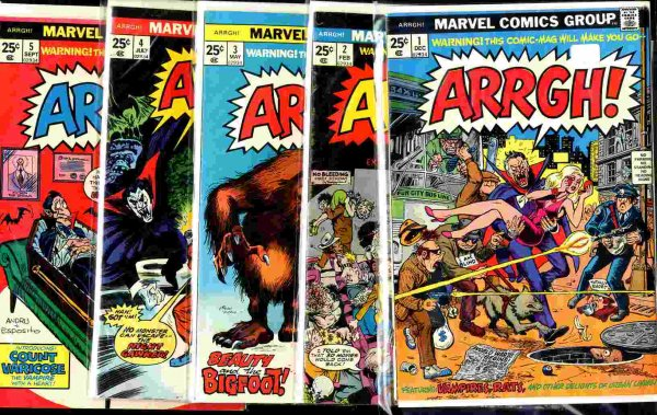 Image for ARRGH COMIC BOOK- THE COMPLETE ISSUE OF 5 COMICS