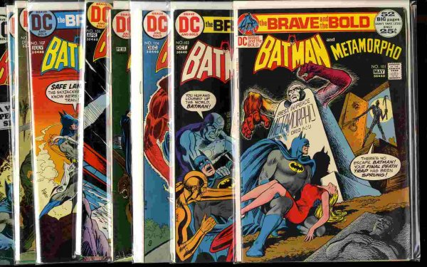 Image for THE BRAVE AND THE BOLD; BATMAN #101, 103-110 1972-4 [COMIC BOOKS]