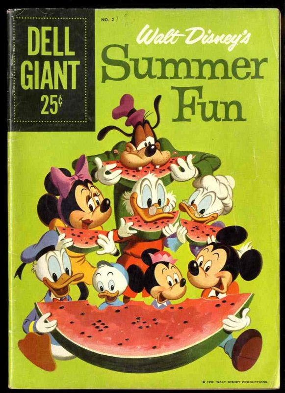 Image for WALT DISNEY'S SUMMER FUN, #2 195 [COMIC BOOK] .25C9