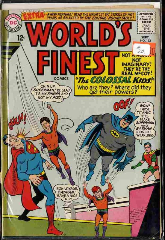 Image for WORLD'S FINEST COMICS; THE COLOSSAL KIDS 12C [COMIC BOOK] SEPT 1965