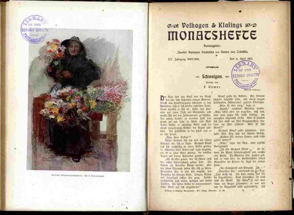 Image for BELHAGEN & KLAFINGS MONATSHEFTE [BOOK 2]