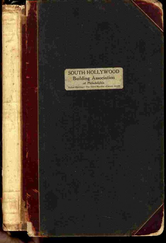 Image for SOUTH HOLLYWOOD BUILDING ASSOCIATION OF PHILADELPHIA RECORD BOOK 1920-30