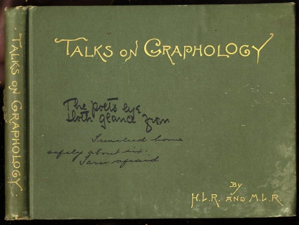 Image for TALKS ON GRAPHOLOGY