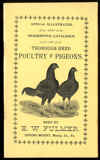Image for ANNUAL ILLUSTRATED AND DESCRIPTIVE CATALOGUE OF THOROUGH-BRED POULTRY AND PIGEONS